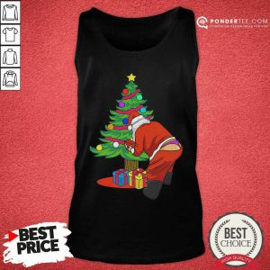 Gay Santa Funny Christmas LGBT Santa Claus Tank Top - Desisn By Pondertee.com