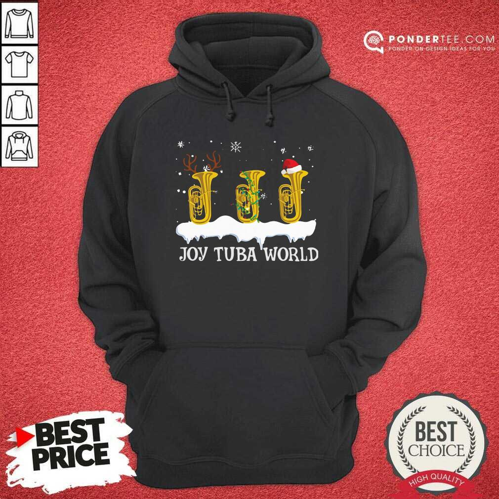 Joy Tuba World Christmas Hoodie - Desisn By Pondertee.com
