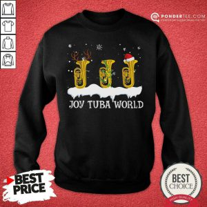 Joy Tuba World Christmas Sweatshirt - Desisn By Pondertee.com