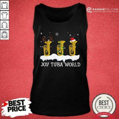 Joy Tuba World Christmas Tank Top - Desisn By Pondertee.com