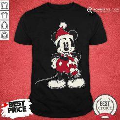 Mickey Mouse Santa Hat Merry Christmas Shirt - Desisn By Pondertee.com
