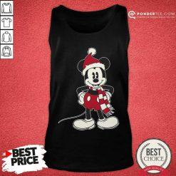Mickey Mouse Santa Hat Merry Christmas Tank Top - Desisn By Pondertee.com