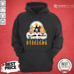 Pittsburgh Steelers Gnomes Merry Christmas Hoodie - Desisn By Pondertee.com
