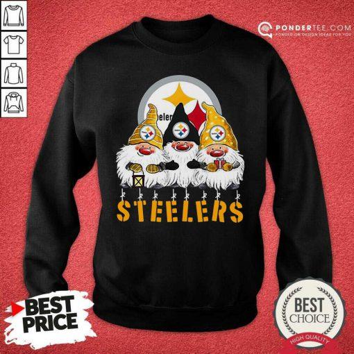 Pittsburgh Steelers Gnomes Merry Christmas Sweatshirt - Desisn By Pondertee.com