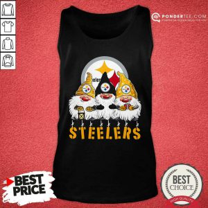 Pittsburgh Steelers Gnomes Merry Christmas Tank Top - Desisn By Pondertee.com