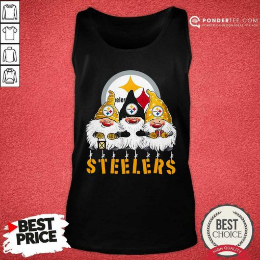 Pittsburgh Steelers Gnomes Merry Christmas Tank Top - Desisn By Pondertee.com