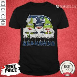 Seattle Seahawks Gnomies Christmas Shirt - Desisn By Pondertee.com