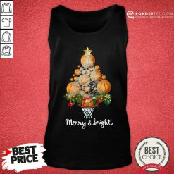 Volleyball Merry And Bright Christmas Tree Tank Top - Desisn By Pondertee.com