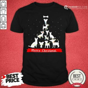 Chihuahua Merry Christmas Tree Shirt - Desisn By Pondertee.com