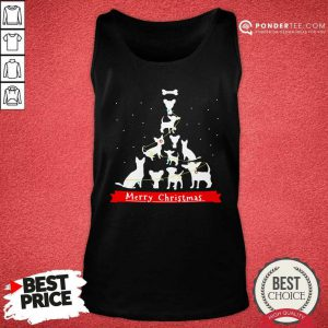 Chihuahua Merry Christmas Tree Tank- Desisn By Pondertee.com Top