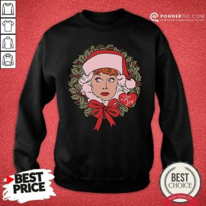 I Love Lucy Christmas Wreath Sweatshirt - Desisn By Pondertee.com