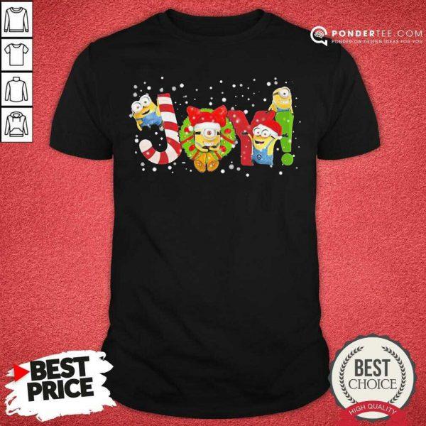 Minions Joy Christmas Shirt - Desisn By Pondertee.com