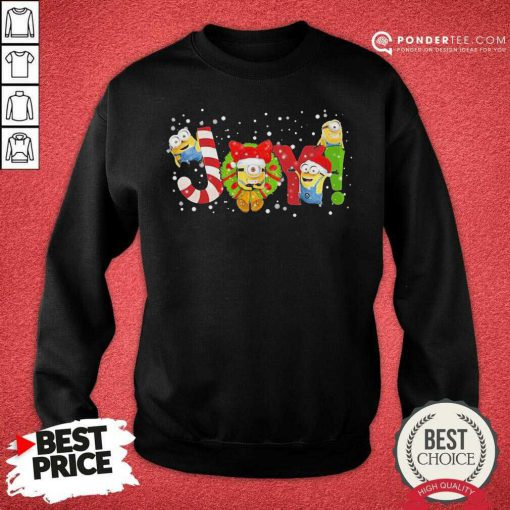 Minions Joy Christmas Sweatshirt - Desisn By Pondertee.com
