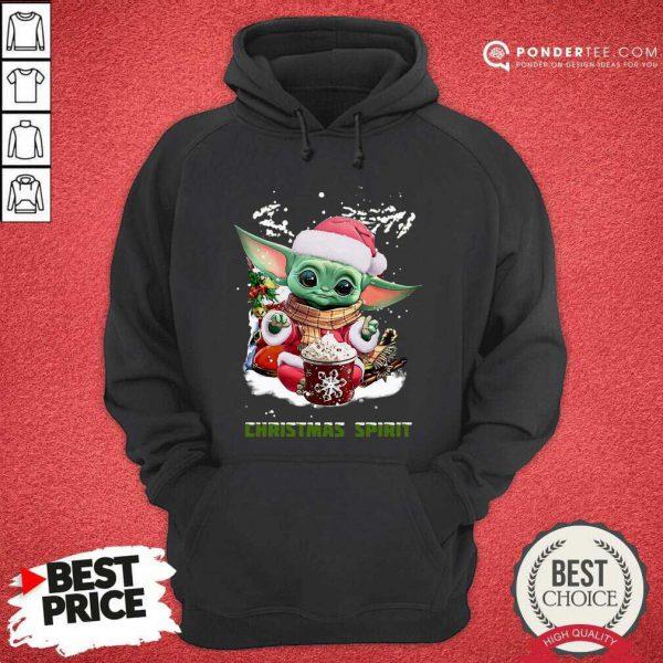 Santa Baby Yoda Christmas Spirit Hoodie - Desisn By Pondertee.com
