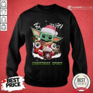 Santa Baby Yoda Christmas Spirit Sweatshirt - Desisn By Pondertee.com