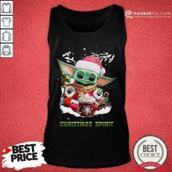 Santa Baby Yoda Christmas Spirit Tank Top - Desisn By Pondertee.com