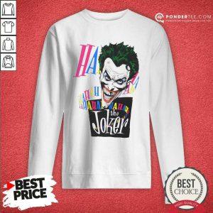 DC Joker Large Brian Bolland Art White 1987 Vintage Sweatshirt - Desisn By Pondertee.com