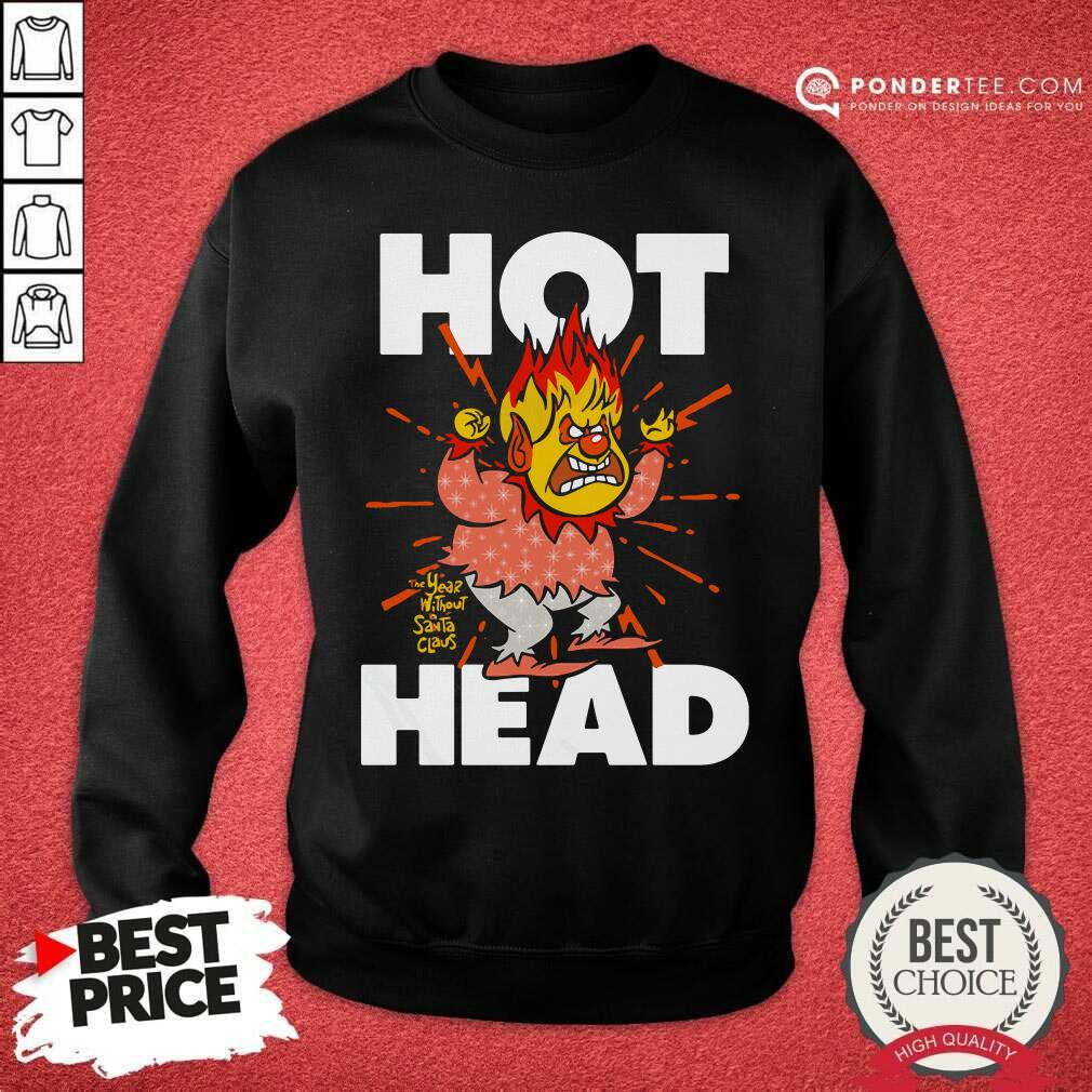 Heat Miser Hot Head The Year Without A Santa Claus Sweatshirt - Desisn By Pondertee.com