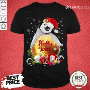Penguin Holly Jolly Ball For You For Penguin Lover Crewneck Christmas Shirt - Desisn By Pondertee.com