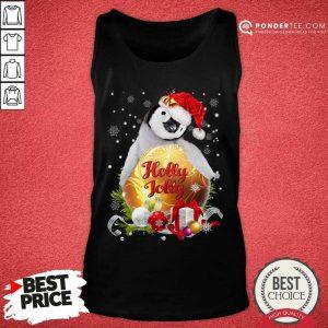 Penguin Holly Jolly Ball For You For Penguin Lover Crewneck Christmas Tank Top - Desisn By Pondertee.com