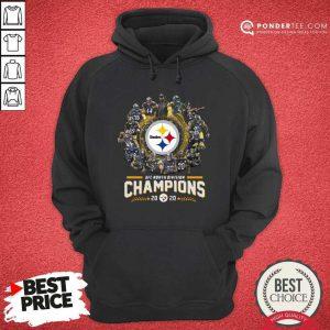 Pittsburgh Steelers Team Football 2020 Afc North Division Signatures Hoodie - Desisn By Pondertee.com