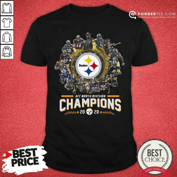 Pittsburgh Steelers Team Football 2020 Afc North Division Signatures Shirt - Desisn By Pondertee.com