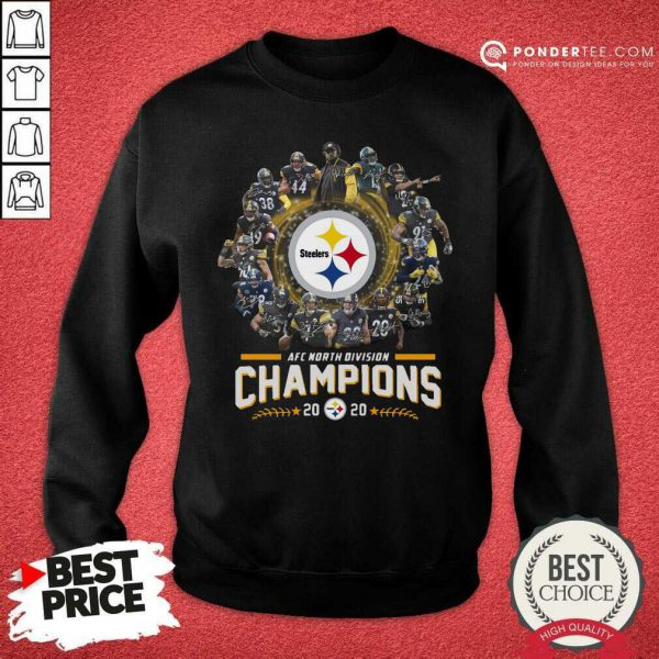 Pittsburgh Steelers Team Football 2020 Afc North Division Signatures Sweatshirt - Desisn By Pondertee.com