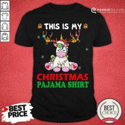 Unicorn Reindeer This Is My Christmas Pajama Shirt - Desisn By Pondertee.com