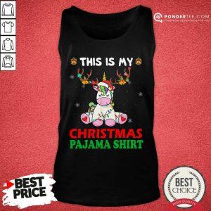 Unicorn Reindeer This Is My Christmas Pajama Tank Top - Desisn By Pondertee.com