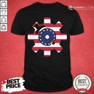 Betsy Ross Flag Bolt Face American Flag Shirt - Desisn By Pondertee.com