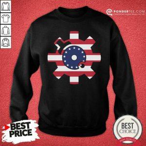 Betsy Ross Flag Bolt Face American Flag Sweatshirt - Desisn By Pondertee.com