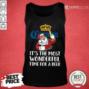Corona Extra It's The Most Wonderful Time For A Beer Tank Top - Desisn By Pondertee.com