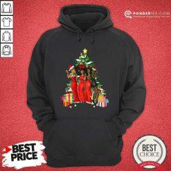 Girl Magic Merry Christmas Tree Collection Hoodie - Desisn By Pondertee.com