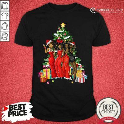 Girl Magic Merry Christmas Tree Collection Shirt - Desisn By Pondertee.com