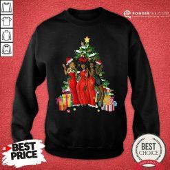 Girl Magic Merry Christmas Tree Collection Sweatshirt - Desisn By Pondertee.com