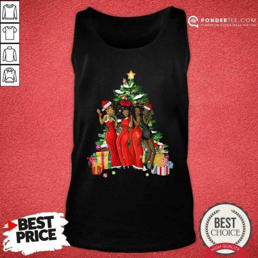 Girl Magic Merry Christmas Tree Collection Tank Top - Desisn By Pondertee.com