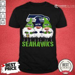 Gnomies Seattle Seahawks Christmas Shirt - Desisn By Pondertee.com