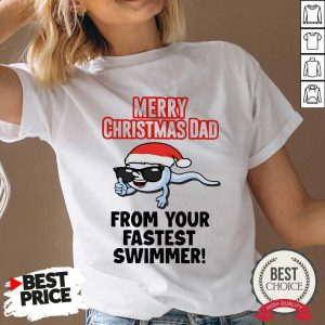 Merry Christmas Dad From Your Fastes- Desisn By Pondertee.com t Swimmer V-neck