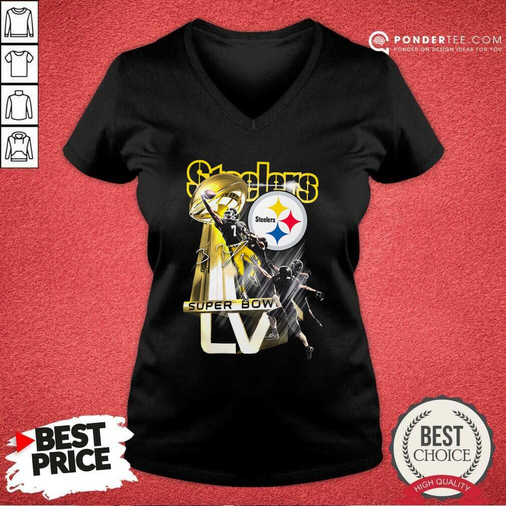 Pittsburgh Steelers Super Bowl Liv Signature V-neck - Desisn By Pondertee.com