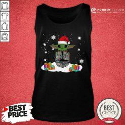 Santa Baby Yoda Merry Christmas Gift Tank Top - Desisn By Pondertee.com