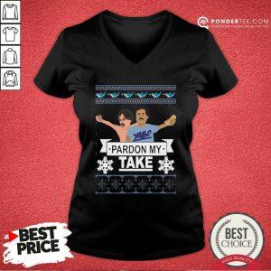 Yabo Pardon My Take Ugly Christmas V-neck - Desisn By Pondertee.com
