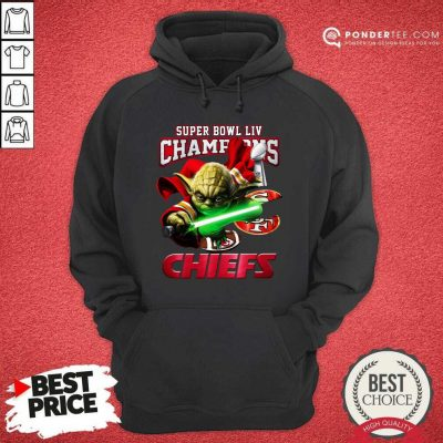 Yoda Super Bowl LIV Champions Kansas City Chiefs Hoodie - Desisn By Pondertee.com