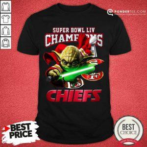 Yoda Super Bowl LIV Champions Kansas City Chiefs Shirt - Desisn By Pondertee.com