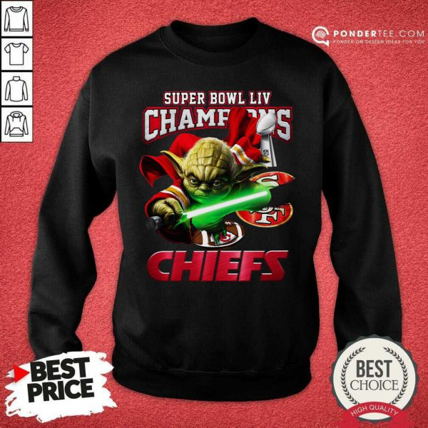 Yoda Super Bowl LIV Champions Kansas City Chiefs Sweatshirt - Desisn By Pondertee.com