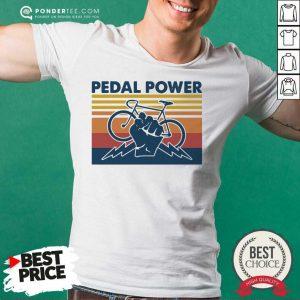 Bicycle Pedal Power Vintage Retro Shirt - Desisn By Pondertee.com
