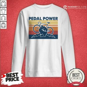 Bicycle Pedal Power Vintage Retro Sweatshirt - Desisn By Pondertee.com