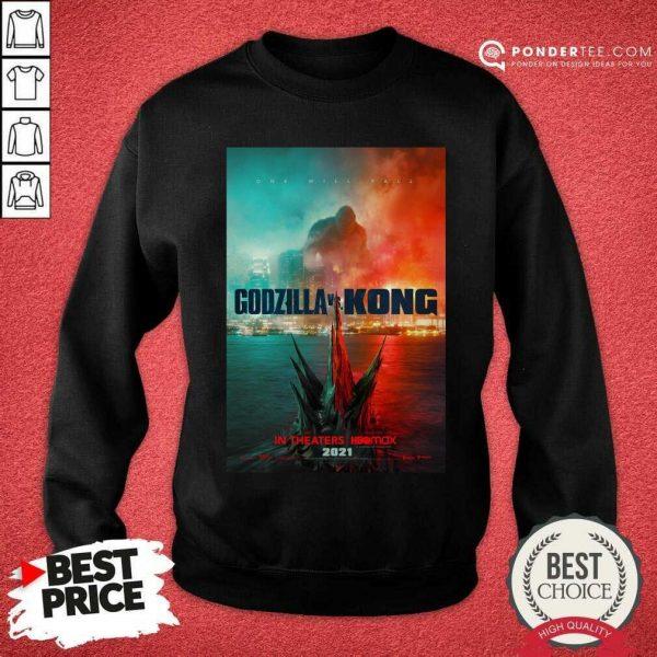 Funny Godzilla vs Kong Poster 456 Sweatshirt