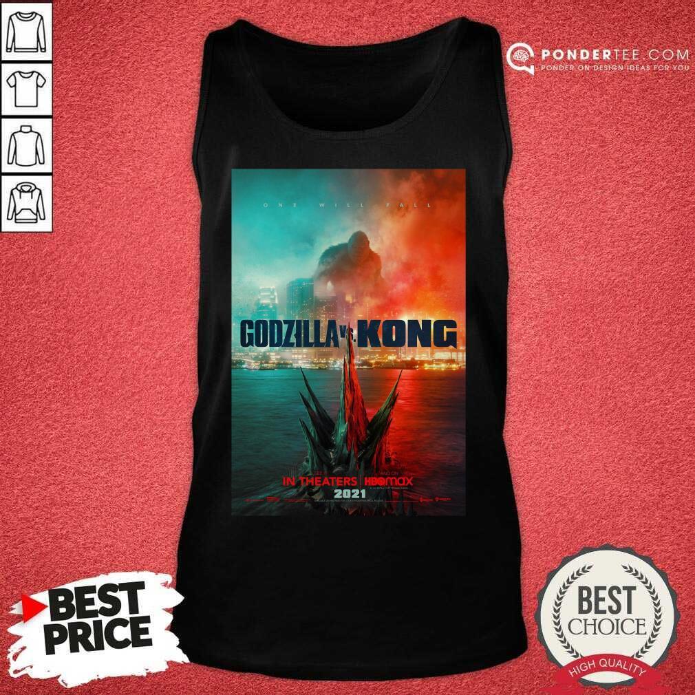 Funny Godzilla vs Kong Poster 456 Tank Top