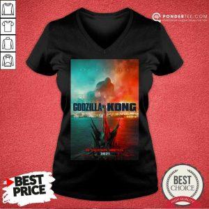 Funny Godzilla vs Kong Poster 456 V-neck