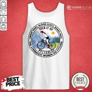 Good Strongest Women Go Cycling 45 Tank Top